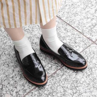 アダムエロぺ(Adam et Rope')の*未使用アダムエロペ 厚底ローファー*24.5cm(ローファー/革靴)
