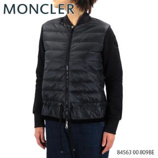 MONCLER - モンクレール moncler 異素材 アウター ダウン ベロア ロゴ 黒