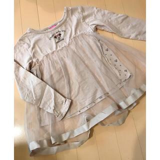 ディズニー(Disney)のディズニー ミニー 長袖 チュール トップス 130cm(Tシャツ/カットソー)