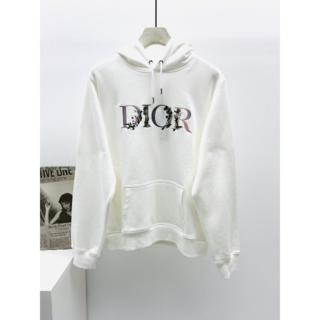 Dior - DIOR ロゴ刺繍 フーディ コットン パーカー スウェット