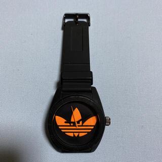 アディダス(adidas)のadidas 腕時計 黒 ブラック オレンジ(腕時計(アナログ))