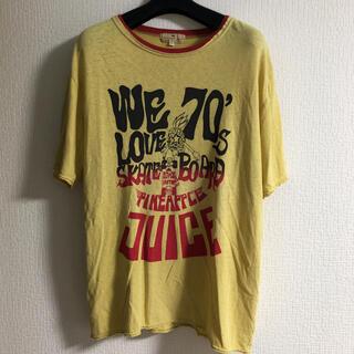 Vintage 古着 リンガー Tシャツ 70's アメカジ イエロー(Tシャツ/カットソー(半袖/袖なし))