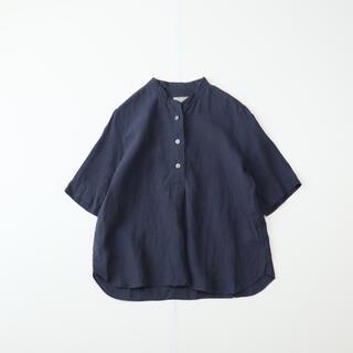 MARGARET HOWELL - MARGARET HOWELL SOFT LINEN リネンプルオーバーシャツ