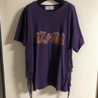 Azuma アズマ 18ss フリンジ tシャツ(Tシャツ/カットソー(半袖/袖なし))