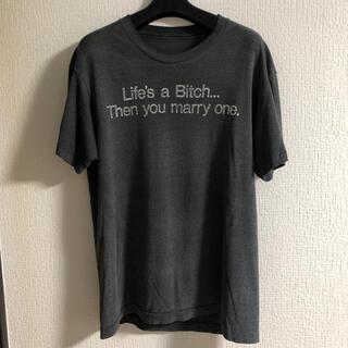 Vintage Tシャツ グレー 霜降り 英字 シングル 70's 80's(Tシャツ/カットソー(半袖/袖なし))