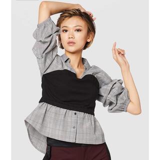 スパイラルガール(SPIRAL GIRL)のビスチェ付シャツ(シャツ/ブラウス(長袖/七分))