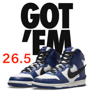 "NIKE - AMBUSH×NIKE DUNK HIGH ""DEEP ROYAL""  ナイキ"