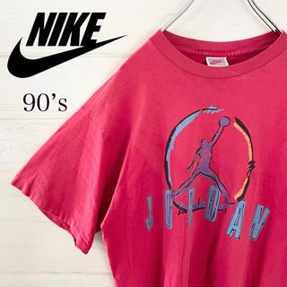 ナイキ(NIKE)のNIKE ナイキ Tシャツ ジョーダン デカロゴ 銀タグ 古着 90s USA製(Tシャツ/カットソー(半袖/袖なし))