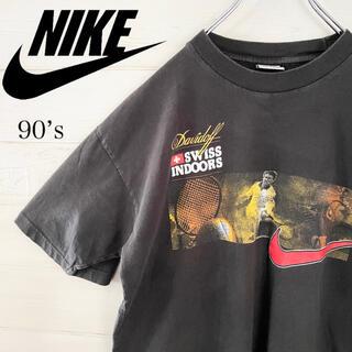 ナイキ(NIKE)のNIKE ナイキ 銀タグ 90s Tシャツ ビッグスウォッシュ デカロゴ 古着(Tシャツ/カットソー(半袖/袖なし))