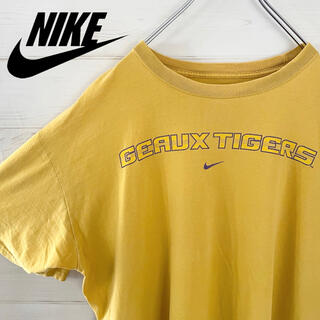 ナイキ(NIKE)の【レア】NIKE ナイキ Tシャツ マスタードカラー 古着 センターロゴ(Tシャツ/カットソー(半袖/袖なし))
