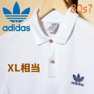 アディダス(adidas)の【80s? アディダス ポロシャツ】トレフォイル ロゴ adidas 万国旗タグ(ポロシャツ)