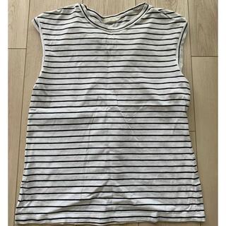ジーユー(GU)の【GU】ボーダーノースリーブ(Tシャツ(半袖/袖なし))