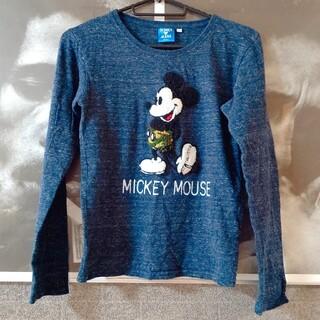 Disney - ミッキーマウス サガラ刺繍 ロングTシャツ 140㎝