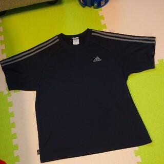 アディダス(adidas)の新品同 adidas ロゴシャツ ライン入り tシャツ カットソー メッシュ(Tシャツ/カットソー(半袖/袖なし))
