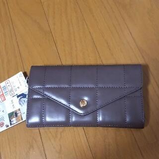 シマムラ(しまむら)の新品 mumu 長財布 タグ付 しまむら ブロックキルト チョコ ブラウン 濃茶(財布)