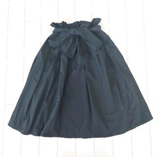 フーズフーチコ(who's who Chico)のフーズフーチコ張りのある生地感のスカート(ひざ丈スカート)