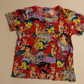 ディズニー(Disney)のディズニーシーリトルマーメイドアリエル総柄Tシャツ(Tシャツ/カットソー)