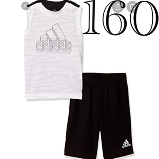 アディダス(adidas)のアディダス 白 160 上下 新品♡ ナイキ プーマ アンダー キッズ ジュニア(Tシャツ/カットソー)