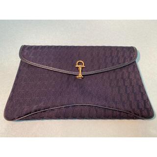 【鞄・未使用品】クラッチバッグ ネイビー     鞄-008(クラッチバッグ)