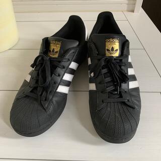 アディダス(adidas)のadidas superstar 黒 28.5cm(スニーカー)