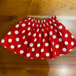ディズニー(Disney)のミニーちゃん 赤 ドット 水玉 スカート 90 ハロウィン コスプレ ディズニー(スカート)