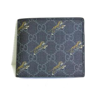 Gucci - ✨販売証明書あり✨GUCCI タイガー 二つ折り財布 虎 GG