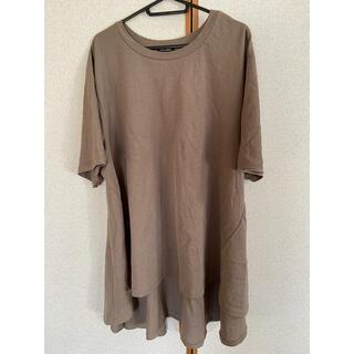 シマムラ(しまむら)の今季しまむら 新品 バックフレアTシャツ 4L(Tシャツ(半袖/袖なし))