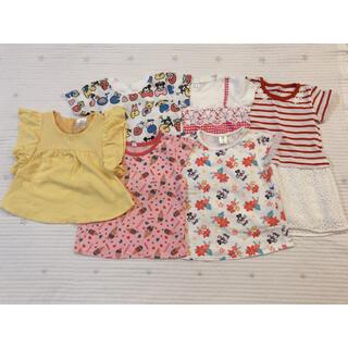 ディズニー(Disney)の女の子 90 Tシャツ ディズニーなど6点(Tシャツ/カットソー)