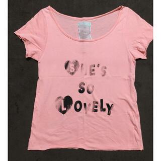 ウエンディーネ(Wendine)のピンクロゴTシャツ(Tシャツ(半袖/袖なし))