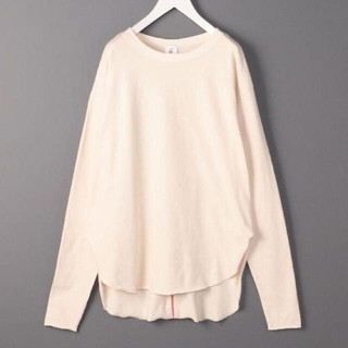 BEAUTY&YOUTH UNITED ARROWS - 6(ROKU) ◆ BACK STITCH PULLOVER WHITE