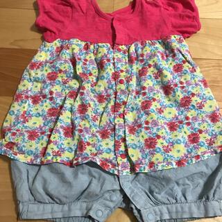 ロンパース  70 夏服 赤ちゃん 女の子 可愛い 花柄
