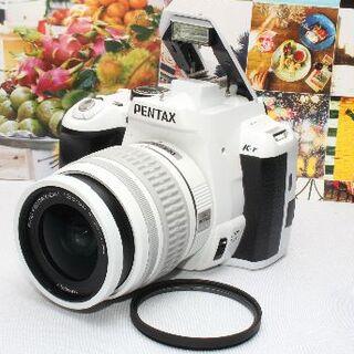 ペンタックス(PENTAX)の❤️一番人気のピュアホワイト❤️手振れ補正内蔵❤️ペンタックス k-r❤️(デジタル一眼)