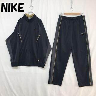ナイキ(NIKE)の【人気】ナイキ 刺繍ロゴ ジャージ セットアップ サイドライン ブラック XL(ジャージ)