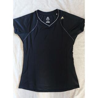アディダス(adidas)のLady's アディダス プレミアム VネックTシャツ Lサイズ(トレーニング用品)