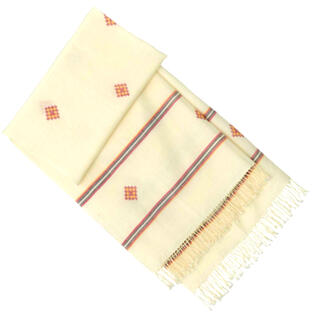 MUJI (無印良品) - タグ付き‼️ MUJI  無印良品   インドの手織り クルーショール