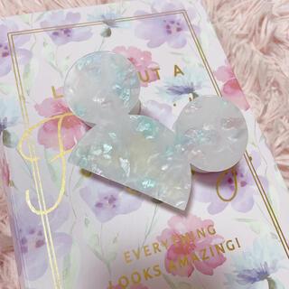 ディズニー(Disney)のシェル風 ミッキーマウス ミッキー ヘアクリップ(バレッタ/ヘアクリップ)