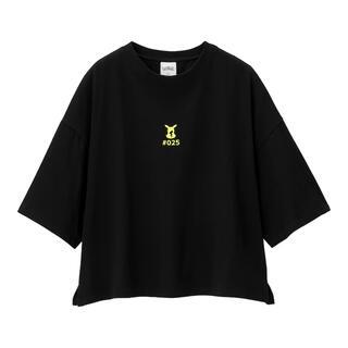 GU - GU ポケモン ピカチュウ クロップドTシャツ