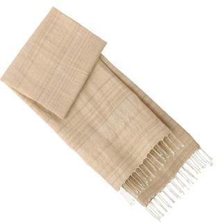 ムジルシリョウヒン(MUJI (無印良品))のタグ付き‼️  インドの手織り シルク混  ムラ糸まんまの色 大判ストール(マフラー/ストール)
