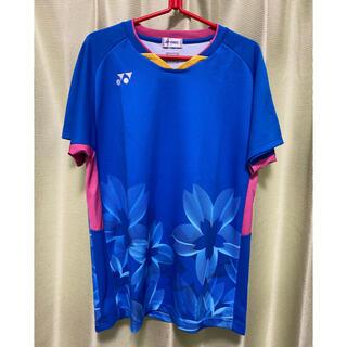 ヨネックス(YONEX)のYONEX バドミントン 公認ゲームシャツ ユニLサイズ【元日本代表着用モデル】(バドミントン)