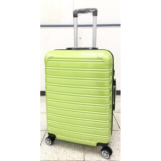 大型軽量スーツケース 8輪キャリーバッグ TSAロック付き Lサイズ グリーン(旅行用品)