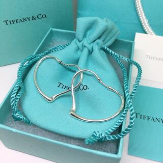 Tiffany & Co. - 新品未使用 ティファニー オープンハート フープ ピアス スモール ギフト S