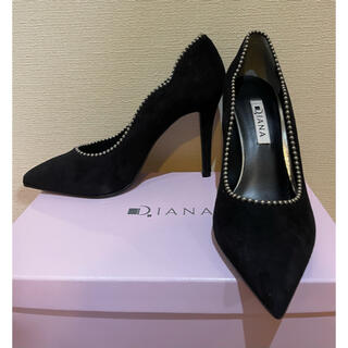 DIANA - 【新品】DIANA ダイアナ スエード ハイヒール パンプス 黒 23