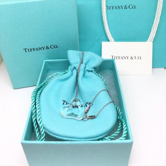 Tiffany & Co.(ティファニー)の未使用美品 ティファニー オープンハート ロッククリスタル プラチナ ネックレス レディースのアクセサリー(ネックレス)の商品写真