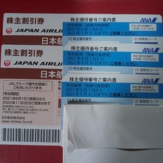 ジャル(ニホンコウクウ)(JAL(日本航空))のJAL ANA 優待券(航空券)