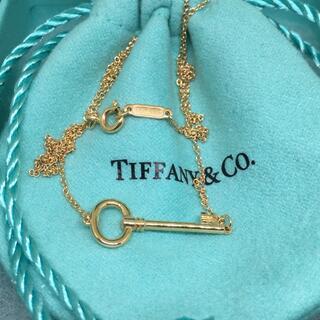 Tiffany & Co. - 美品 ティファニーキー  RG オーバルキー ネックレス k18