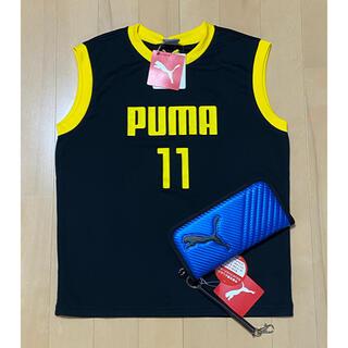 プーマ(PUMA)の新品タグ付き PUMA  男の子 刺繍入りノースリーブシャツ 財布 2点セット(財布)