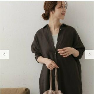 DOORS / URBAN RESEARCH - 【美品】リネンバックタックシャツワンピース  oneサイズ