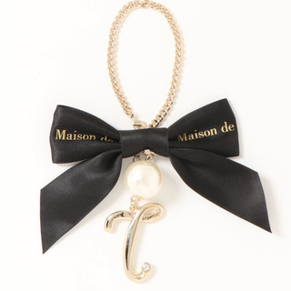 メゾンドフルール(Maison de FLEUR)のMaison de FLEUR  イニシャルバッグチャーム:T(バッグチャーム)