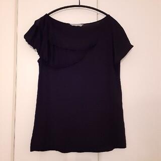 セオリーリュクス(Theory luxe)のセオリーリュクス シルクコットンTシャツ 38 黒(Tシャツ(半袖/袖なし))