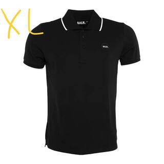 未使用 BALR ボーラー ポロシャツブラック メンズシャツ XLサイズ